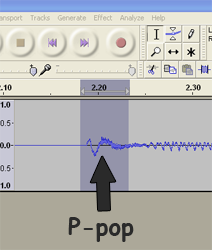 p-pop image in Audacity