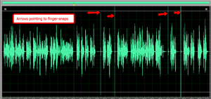 visual cues in voice-over wave form