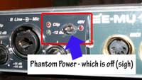 phantom power switch