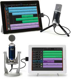 Apogee and Spark Digital iPad Mics