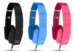 Purity Headphones by Monster in Black, Pink, and Blue