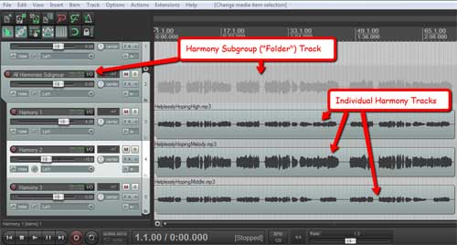 Subgroup Track In Reaper