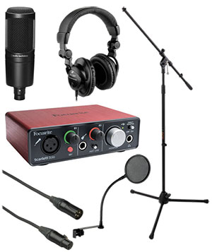 Focurite-Solo-Home-Recording-Starter-Kit