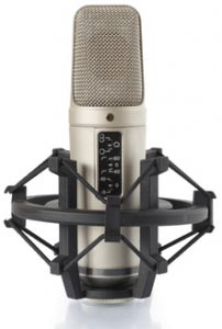 Rode NT2A mic in shock mount