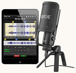 Rode_NT_USB mic connected to an iPad