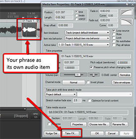 Adding An Effect To Just Part Of An Audio Track In Reaper