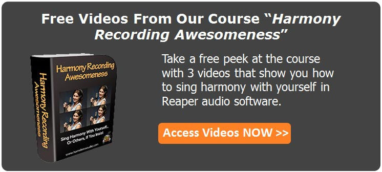free videos from harmony recording course
