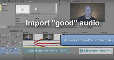 editing audio track in video software