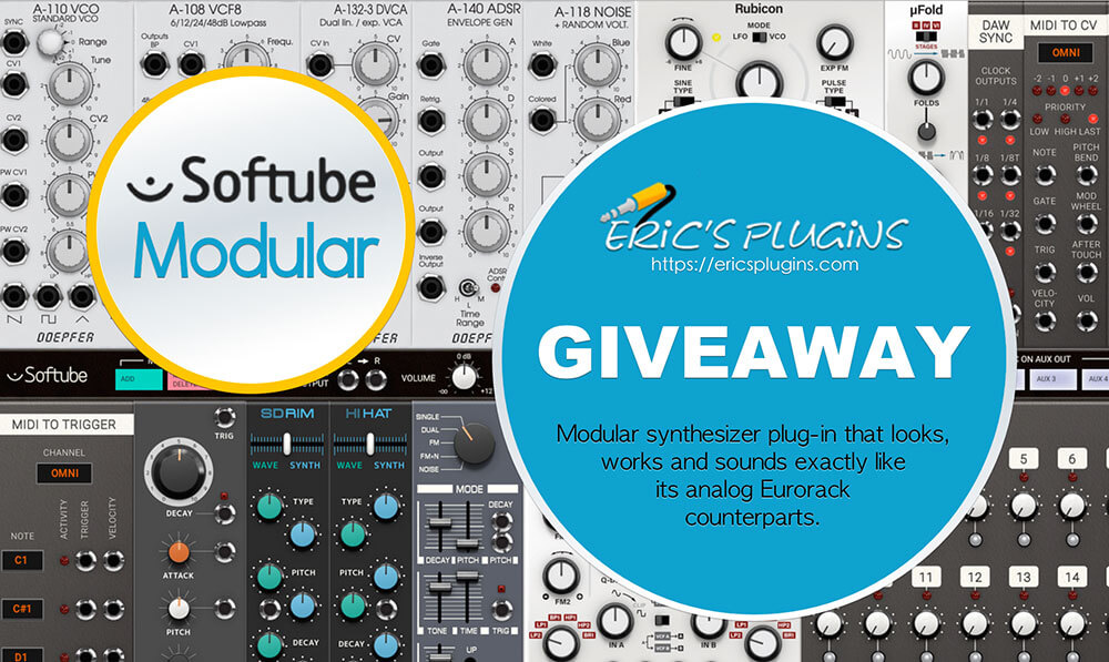 giveaway of softube modular synthesizer at eric 39 s plugins. Black Bedroom Furniture Sets. Home Design Ideas