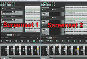 Pic of Screensets in Reaper