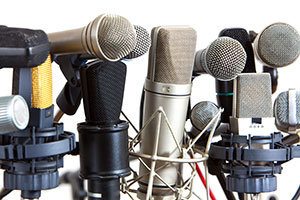 Different kinds of microphones