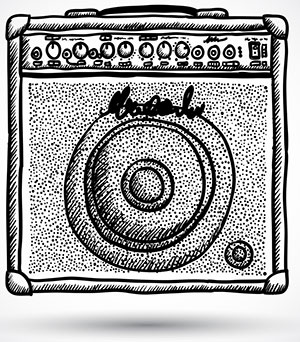 sketch of a guitar amplifier