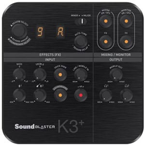 Sound Blaster K3+ Live Streaming Mobile Interface